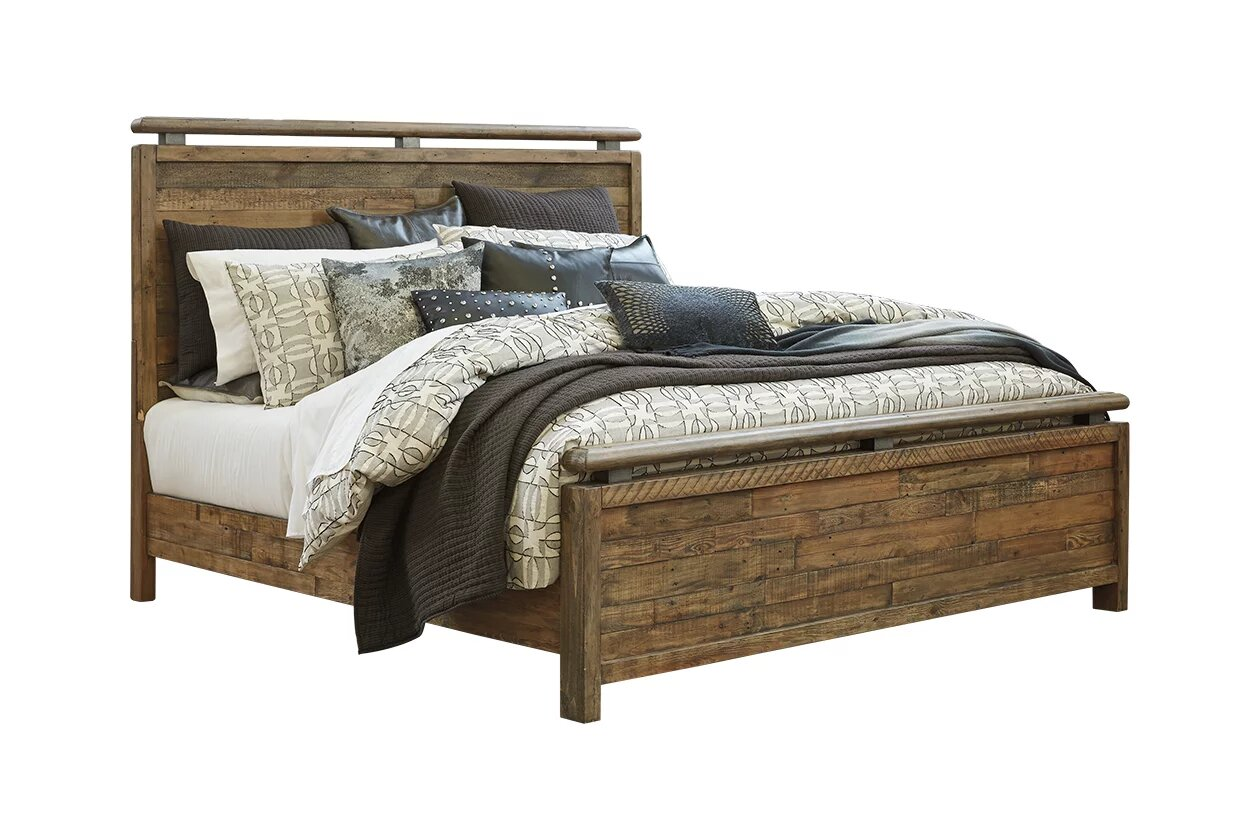 Accelep Teak Wood Queen Size Bed Without Storage