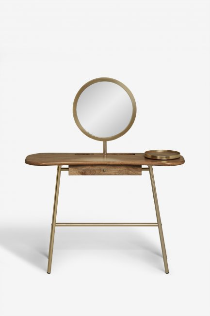 Armour Mango Wood Dresser in Rose Gold Finish With Mirror