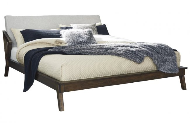 Ridero Teak Wood Queen Size Bed Without Storage