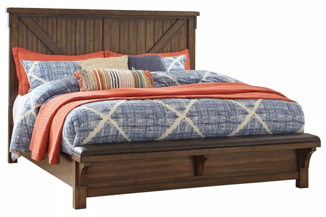 Emperor Sheesham Wood Queen Size Bed Without Storage