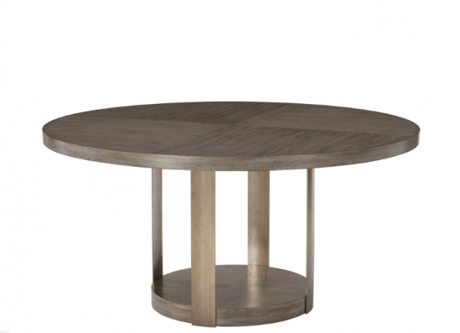 Scoot 4 Seater Dining Table With Metal Base