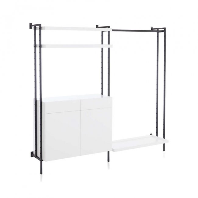 Vuci Metal Modular Clothing Rack With Cabinet