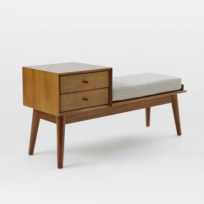 Horizon Wooden Bench with Drawer