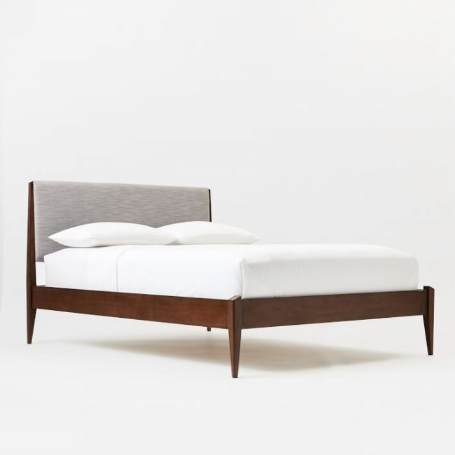 Seesme Teak Wood King Size Bed Without Storage