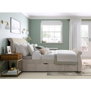Tiveobje King Size Upholstered Bed With Drawer Storage