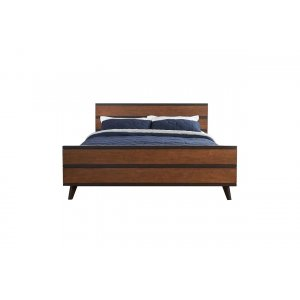 Smarquino Teak Wood Queen Size Bed Without Storage