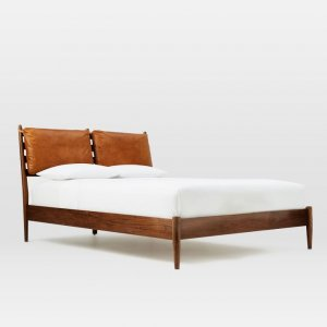 Epolo Teak Wood Queen Size Bed Without Storage