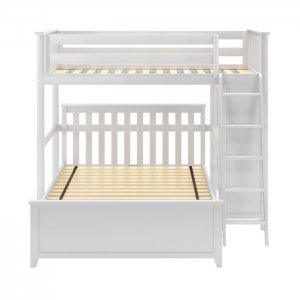 Snug Sheesham Wood Bunk Bed with Built in Study Table & Chair
