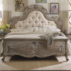 Castbroad Teak Wood King Size Bed With Upholstery