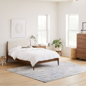Seesme Teak Wood Queen Size Bed Without Storage