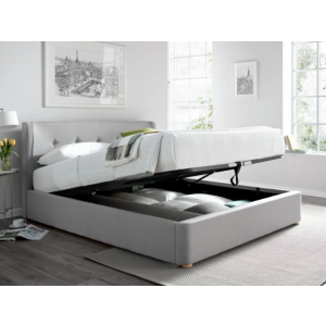 Rill Queen Size Upholstered Bed With Hydraulic Storage