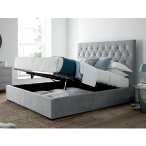 Pairre King Size Upholstered with Hydraulic Storage