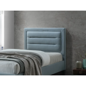 Fairaf Upholstered Single Bed Without Storage in Blue Colour
