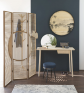 Wise Rubber Wood Dresser with Mirror in Natural Finish