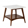 Bandit Wooden End Table with Onyx Top