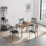 Vault 4 Seater Metal Dining Table