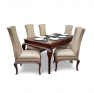 Classic Sheesham Wood Six Seater Dining Table with Chairs