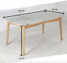 Virtuoso 6 Seater Dining Table with Marble Top