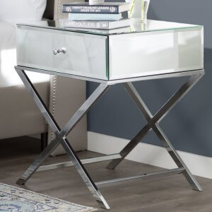 Copt Mirror End Table
