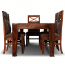 Northbay Sheesham Wood 6 Seater Dining Table with Chairs