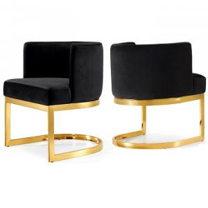 Amaze Steel Dining Chair with Golden Finish
