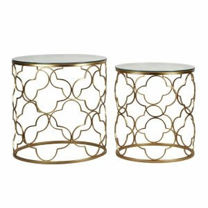 Flower 2 Piece Nesting Table
