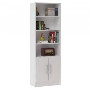 Willow Manufactured Wood Display Wardrobe in White Colour