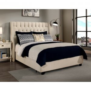 Lauchee King Size Upholstered Bed With Drawer Storage