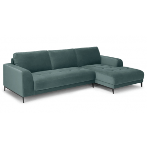 Ciano L Shape Sofa Marine Green Fabric