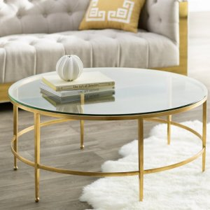 Craz Coffee Table in Gold Finish