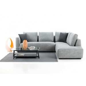 Reva L Shape Sofa in Leather