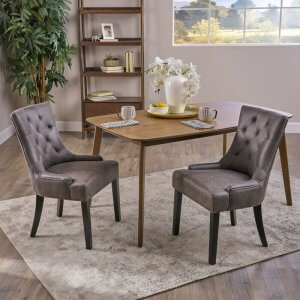Imagine Sheesham Wood Upholstered Dining Chair