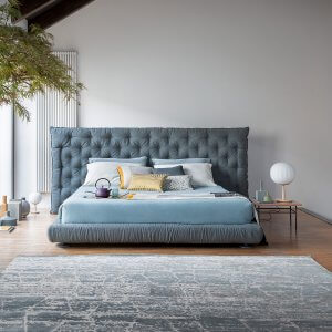 Tribes Queen Size Upholstered Bed Without Storage