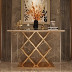 Monox Marble Top Console Table