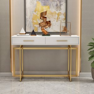 Whippy White Top Console Table