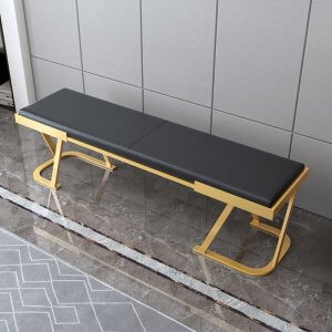 Bleet Metal Bench with Upholstery