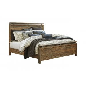 Accelep Teak Wood King Size Bed Without Storage