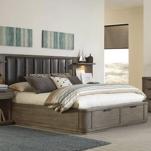 Wons Wooden Queen Size Bed With Drawer Storage