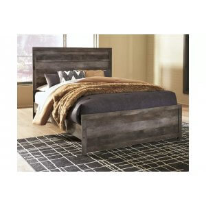 Mindus Wooden Antique Look King Size Bed Without Storage