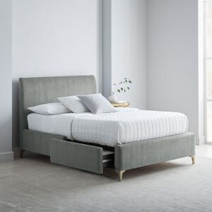 Blessimo King Size Upholstered Bed With Drawer Storage