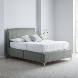 Blessimo Queen Size Upholstered Bed With Drawer Storage