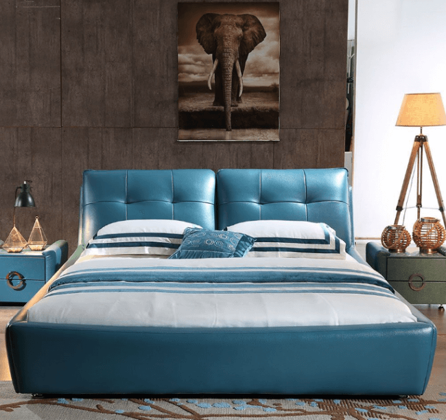 Southe King Size Hydraulic Storage Bed with Side Tables