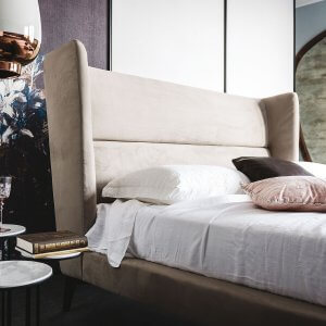 Bouquet King Size Upholstered Bed Without Storage