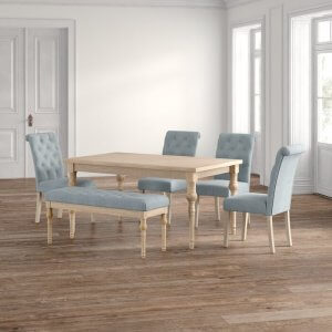Connect Mango Wood 6 Seater Dining Table in Natural Finish