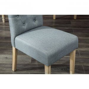 Connect Rubber Wood Chair With Grey Upholstery