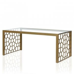 Rave Coffee Table in Golden Colour