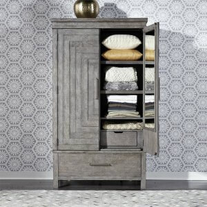 Nation Manufactured Wood Wardrobe With Puzzle Design