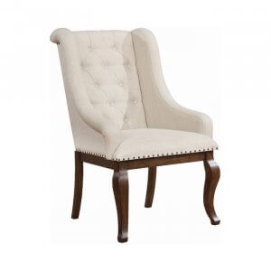 Root Teak Wood Upholstered Dining Chair