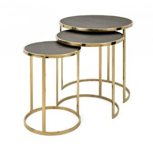 Tomb Stainless Steel 3 Piece Nesting Tables