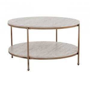 Grafts Coffee Table in Rose Gold